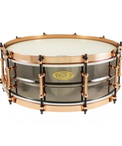 Snare Drum Worldmax Black Dawg Brass Aztec Gold Vintage 14x5""