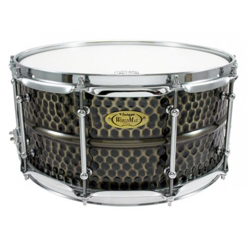 Snare Drum Worldmax Black Dawg Brass Hammered 14x6,5""