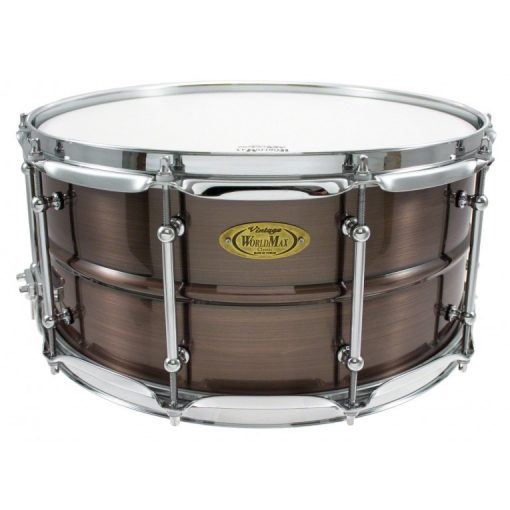 """Snare Drum Worldmax Black Dawg Brass Brushed Red Copper 14x6,5"""""""