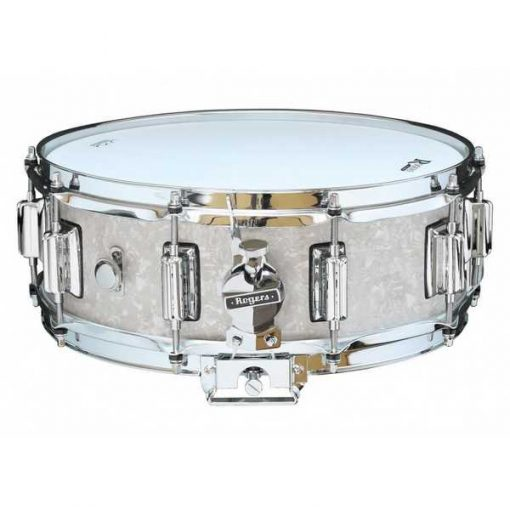 """Snare Drum Rogers 14X05"""" Dyna-Sonic White Marine Pearl (lugs Beavertail)"""