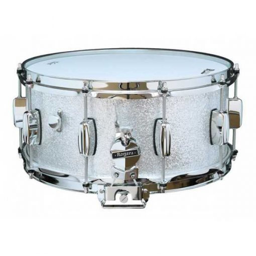 """Snare Drum Rogers 14X6,5"""" Dyna-Sonic Silver Sparkle (lugs B&B)"""