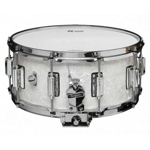 """Snare Drum Rogers 14X6,5"""" Dyna-Sonic White Marine Pearl (lugs Beavertail)"""