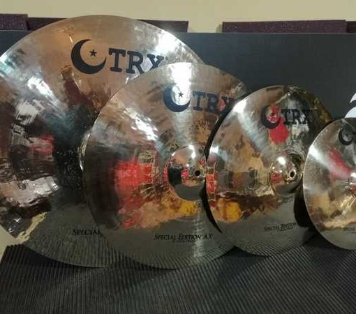 """Set-02 TRX Cymbals Special Edition AX Series (13""""HH - 16""""CR - 18""""CR - 21""""Ride)"""