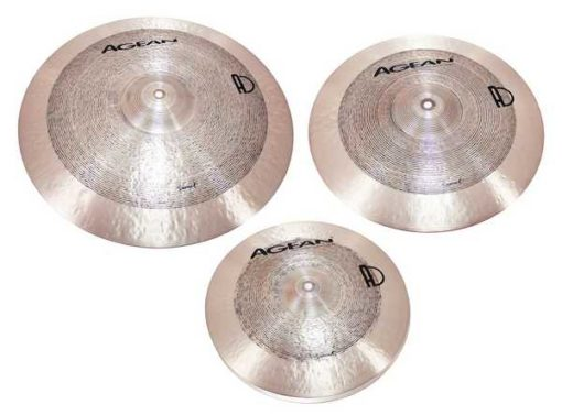 "Set-01 Agean Samet Series (14""HH-16""CR-20""Ride+funda)"