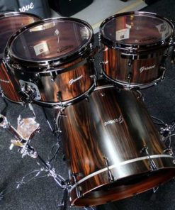 Batería Groove Drum Co - Ebony Macassar over Mahogany