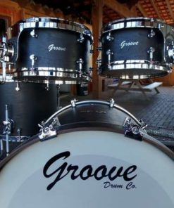 Batería Groove Drum Co - Black Birdseye over Maple Shell