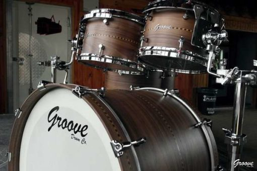Batería Groove Drum Co - Walnut Inlayed Drumset