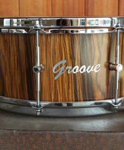 """Snare Drum Groove Drum Co - Rosewood Cocobolo over Walnut 14x06"""""""