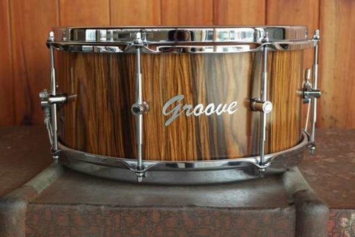 Snare Drum Groove Drum Co - Rosewood Cocobolo over Walnut 14x06""