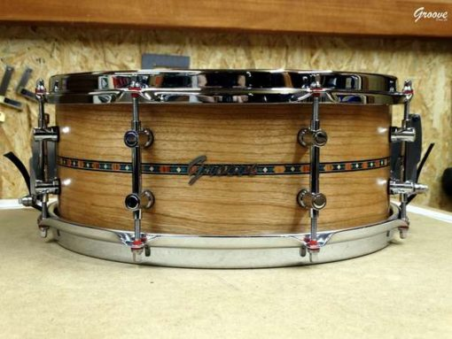 Snare Drum Groove Drum Co - Cherry shell Inlayed 14x5,25""