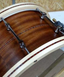 Snare Drum Groove Drum Co - Mahogany Inlayed w/wood hoops 14x8""