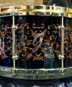 Snare Drum Groove Drum Co - Piano Black Plants over Mahogany 14x8