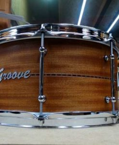 Snare Drum Groove Drum Co - Mahogany Inlayed 14x7""