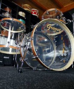 Batería Groove Drum Co - Acrylic set with wooden hoops