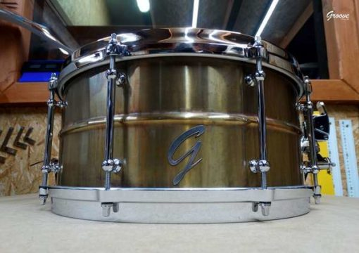Snare Drum Groove Drum Co - The Rusted Brass 14x6,5""