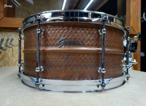 Snare Drum Groove Drum Co - Hammered Copper 14x6,5""