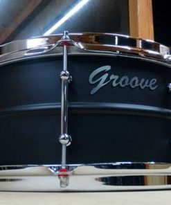 Snare Drum Groove Drum Co - Steel Flat Black 14x6,5""