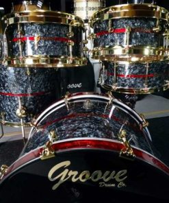 Batería Groove Drum Co - Black Diamond over Maple/Bubinga shell