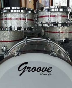 Batería Groove Drum Co - Silver Glitter over Walnut shell