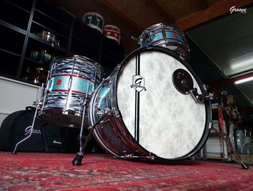 Batería Groove Drum Co - Vintage Black Oyster/Sparkle over Mahogany