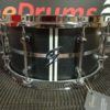 Snare Drum Groove Drum Co - Walnut Black Satin 13x07""