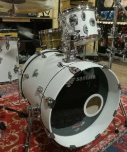 "Batería santafé Drums Compact Set 18""-10""-14"" Custom White"