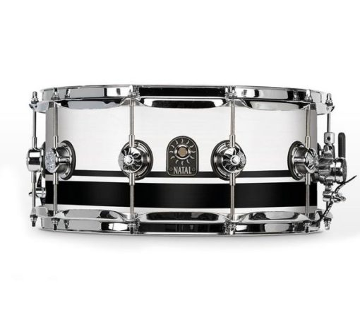 "Snare Drum Natal Café Racer 14x6,5"" (Black White Split)"