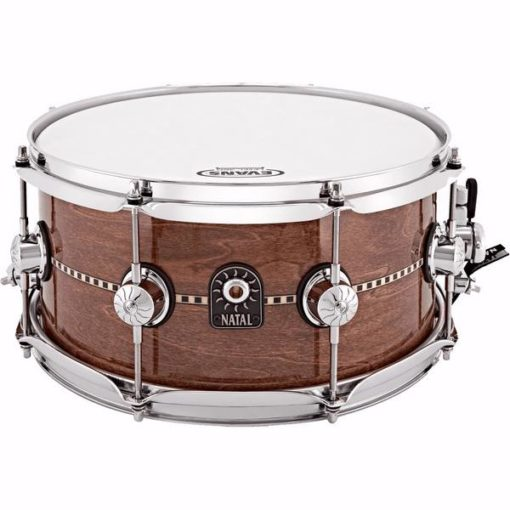 "Snare Drum Natal Tulipwood 13x6,5"" (Gloss Inlay)"