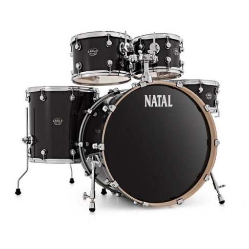 "Batería Natal Arcadia Birch Series Studio 20""-10""-12""-14""/14"" (Black Sparkle)"