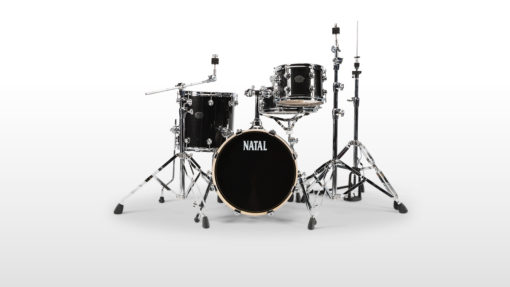 "Batería Natal Arcadia Birch Series Traditional Jazz 18""-12""-14""/14"" (Black Sparkle)"