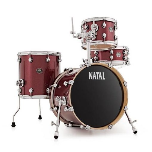 "Batería Natal Arcadia Birch Series Traditional Jazz 18""-12""-14""/14"" (Red Sparkle)"