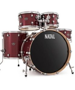 "Batería Natal Arcadia Birch Series Studio 20""-10""-12""-14""/14"" (Red Sparkle)"