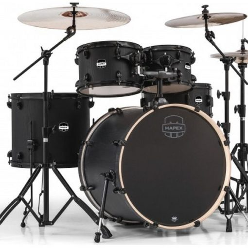 "Batería Mapex Mars Series Rock 22""-10""-12""-16""/14"" (Nightwood Black HW)"