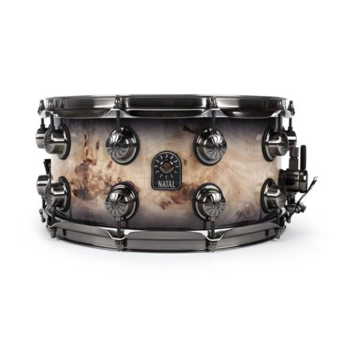 "Snare Drum Natal Limited Ed. Mappa Burl 14x7"" (black smoked gloss)"