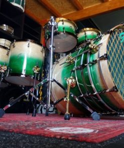 Batería Groove Drum Co - Green Emerald / Natural Oak over Mahogany Monster Set