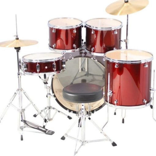 "Batería Mapex Tornado Series Rock 22""-10""-12""-16""/14"" (Red)"