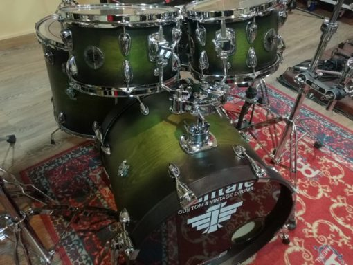 "Batería santafé Drums Compact Set 22""-10""-12""-16"" Custom satin Dark Green"