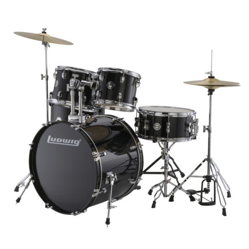 "Batería Ludwig Accent Fuse Black Cortex 20"" - full set (LC170)"